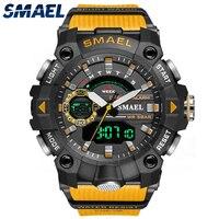 Reloj deportivo para hombre, cronómetro con alarma de movimiento de cuarzo, resistente al agua, de pulsera, Digital de cuarzo, 12/24H, 8040