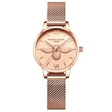 HM Stainless Steel Mesh Wristwatches Luxury Quartz