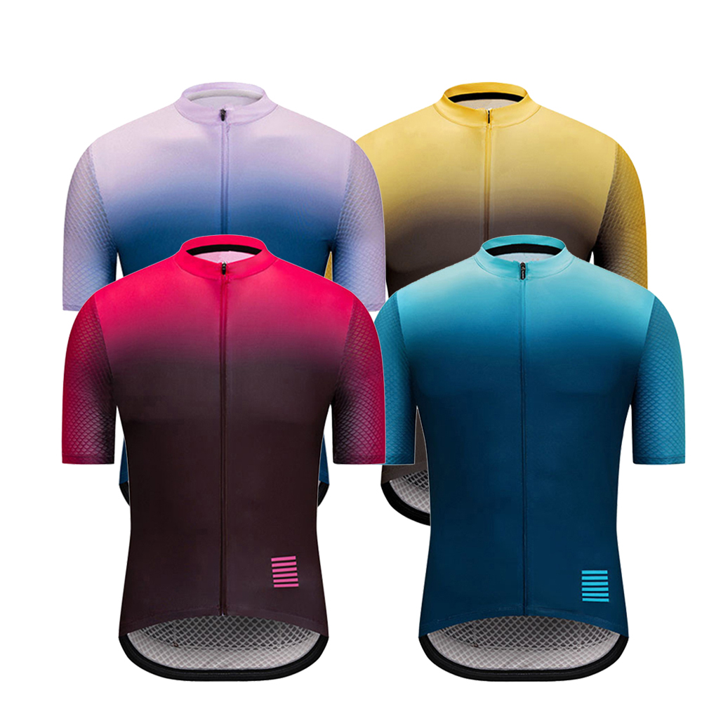 Bike Jersey Mtb-Shirt Maillot-Ciclismo Fabric Men Gradient-Color Hombre High-Quality