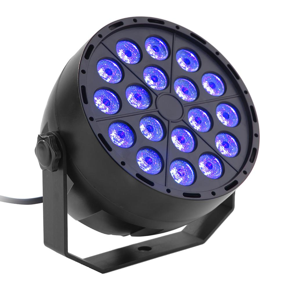 18 LED UV Lighting Effects Professional Stage Light Disco DJ Projector Machine Party With Bracket