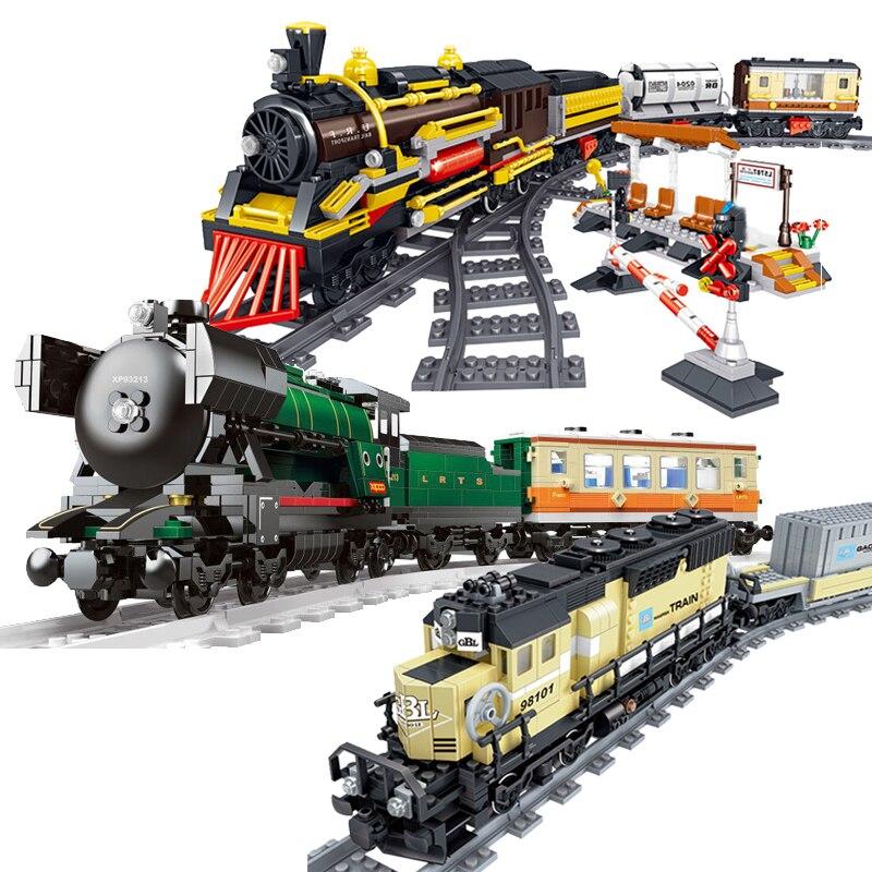 New Technic Series Emerald Night Train Model Kit Compatible Legoinglys Building Block DIY Bricks Toys For Children Gifts
