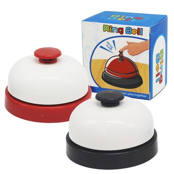 Children's Game Compete White Ring Bells Press Home Game Family Have Fun Bell image