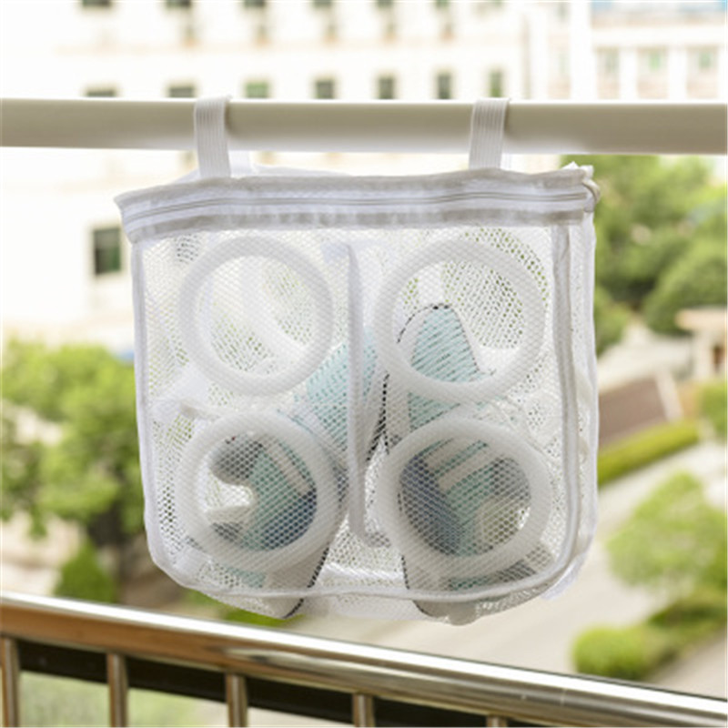 1pcs Shoes Washing Hanging Bag Dry Sneaker Mesh Laundry Bags Home Using Clothes Washing Net Bag Shoes Protect Wash Bag