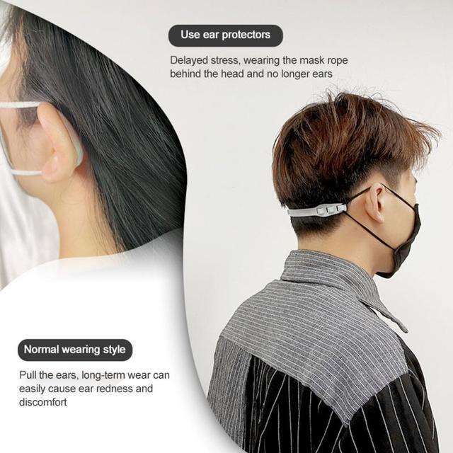 3pcs Adjustable Anti-slip Mask Ear Grips High Quality Extension Hook Face Masks Buckle Holder Accessories 16X1.7X1.2cm Hot Sale 2