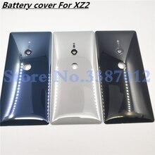 Original Glas Für Sony Xperia XZ2 H8216 H8266 H8276 H8296 Batterie Zurück Abdeckung Hinten Tür zurück fall Gehäuse Fall Mit kamera objektiv