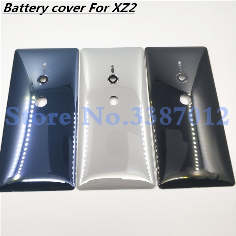 Original Glass For Sony Xperia XZ2 H8216 H8266 H8276 H8296 Battery Back Cover Rear Door Back Case Housing Case With Camera Lens