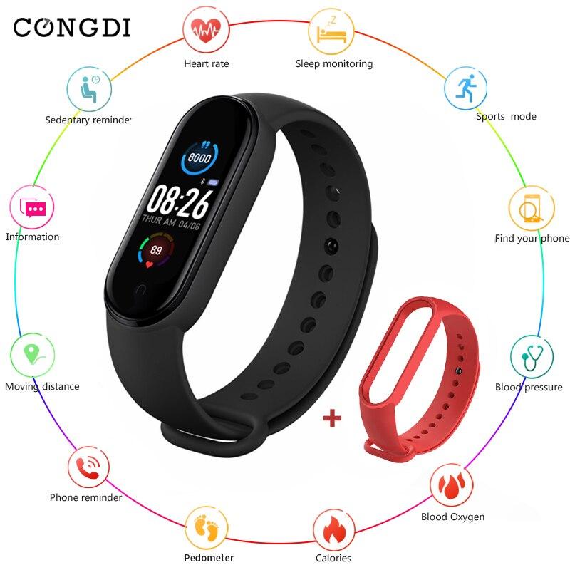M5 Смарт часы Bluetooth Фитнес трекер часы с шагомером пульсометром со напоминание крови Давление Smartband для IOS и Android