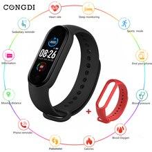 ساعة ذكية M5 مزودة بتقنية البلوتوث والتحكم في معدل ضربات القلب وعداد الخطى والمكالمات والتذكيرات وضغط الدم لنظامي IOS و Android