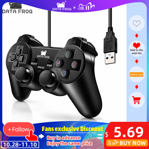 Image 1 - DATA FROG Vibration Joystick Wired USB PC Controller For PC Computer Laptop For WinXP/Win7/Win8/Win10 For Vista Black Gamepad