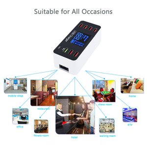 Image 5 - 40W Quick Multi Port USB Charger Hub Charge 3.0 Type C USB Charging Station Desktop Charger Fast Led Display 8 Ports Multiport