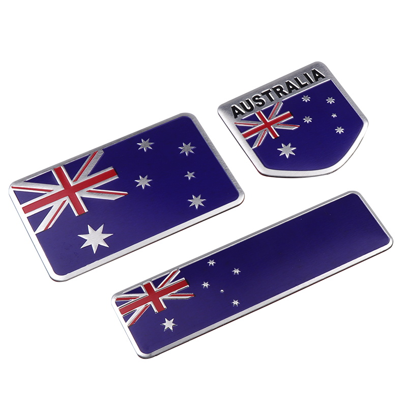 3D Aluminum Australia National Flag Emblem Badge Car Sticker Motorcycle Automobile Auto Accessories Mobile Phone Laptop Decal