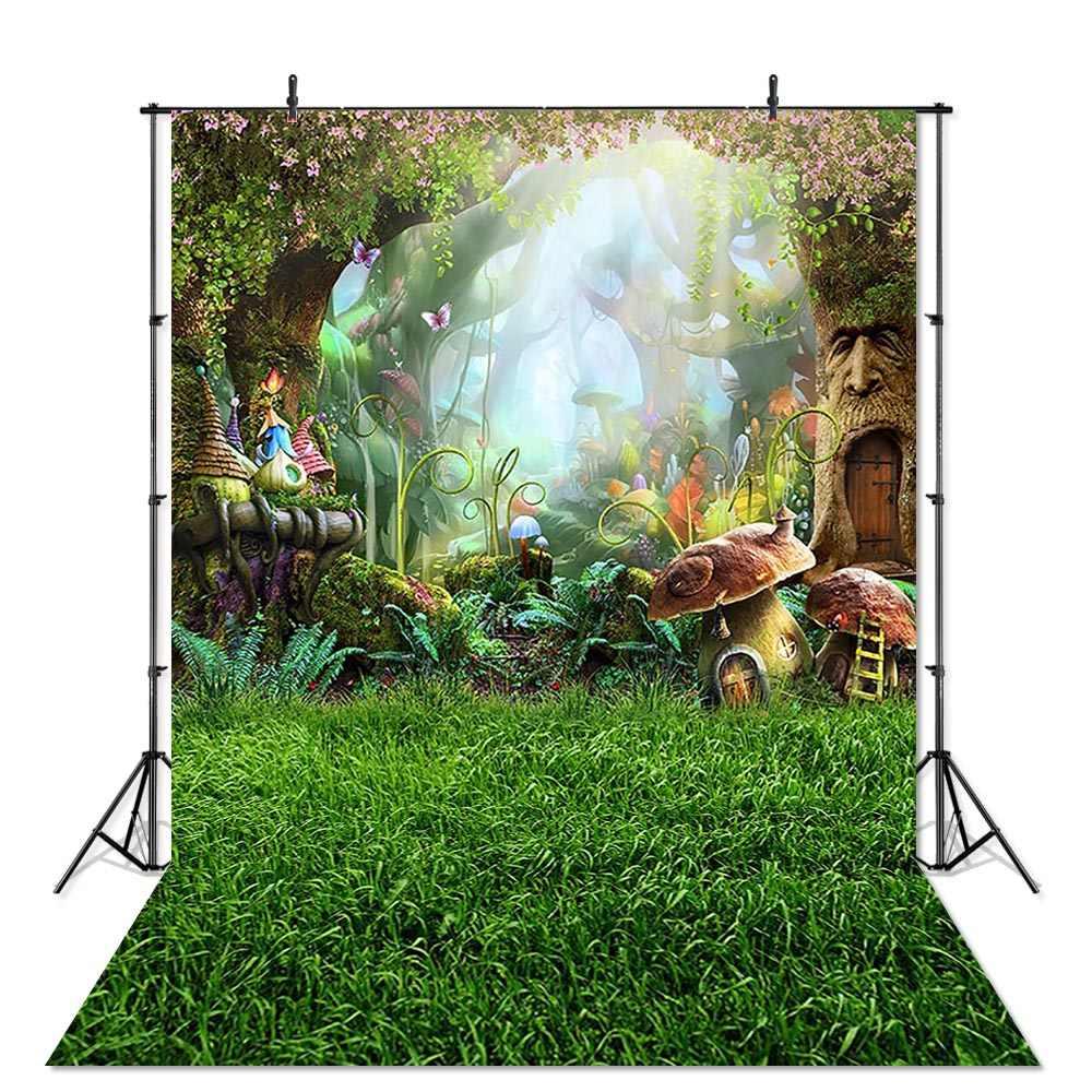 春の背景写真撮影イースター卵草原の森林の花の風景の背景フォトスタジオ子供の写真撮影の小道具