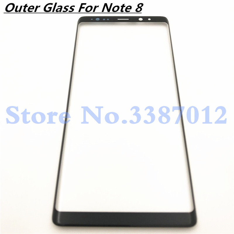 """Replacement Outer Glass Lens For Samsung Galaxy Note 8 Note8 N950 N950F 6.3"""" LCD Touch Screen Front Glass Outer Panel"""