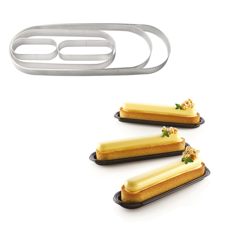 Stainless Steel  Long Oval Mousse Ring Cake Mold Baking Tiramisu DIY Kitchen Baking Pastry Tools Tart Ring Quiche