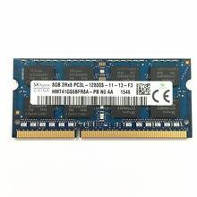 Sk hynix DDR3 8 CARNEIROS GB 2RX8 PC3L-12800S DDR3 GB LAPTOP MEMÓRIA ddr3 de 1600MHz 1.35V 8