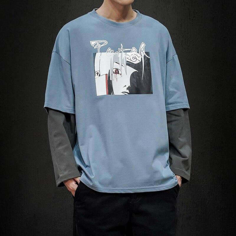 Hot Sale 2020 New Fashion Brand O-Neck Slim Fit Long Sleeve T Shirt Men Trend Casual Mens T-Shirt Patchwork Tee Shirts 4XL 5XL