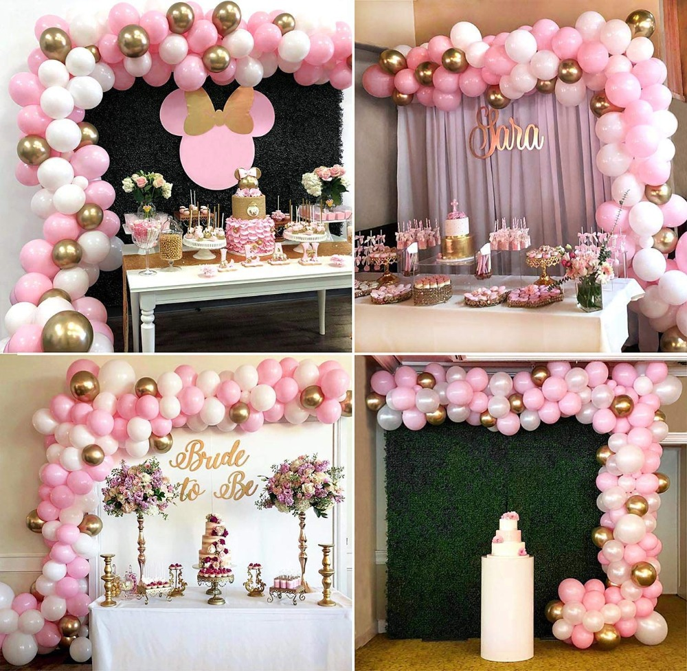 Pink Blue Yellow White Giant Balloon Arch -\u201cDisney Princess Squad\u201d XL Party Prop Its a Girl Baby Shower Balloon Garland Kit