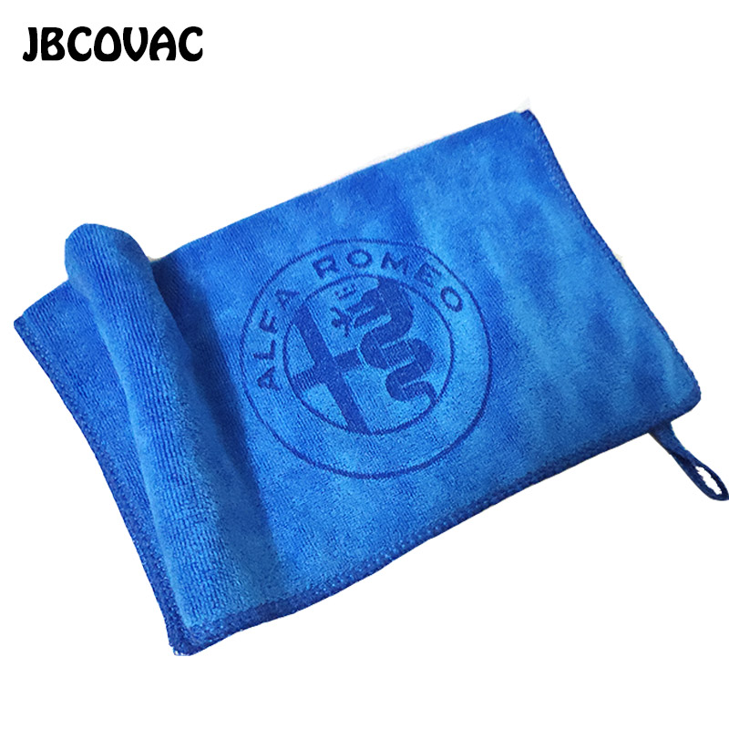 1pc 30cm Car Wash Towel For Alfa Romeo 159 147 156 Giulietta Mito Oem For Autos Car Soft Microfiber Cleaning Towel Car Stickers