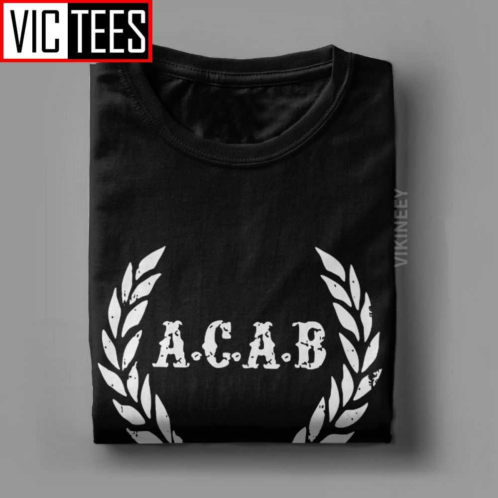 Männer der ACAB EINE C EINE B Fußball Fußball T-shirt 100 Prozent Baumwolle Camisas Hombre Neuheit Rundhals T-shirt