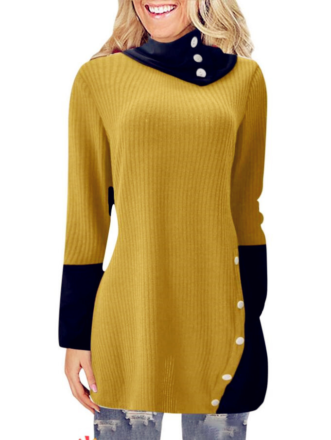 Winter Spring Sweater Women Knitted Tops Button Plus Size Casual Long Sleeve Pull Female Sexy Dress Sweaters Pullovers