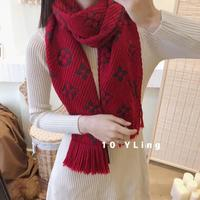2019 New Arrival Women Red Grey Scarfs Female Fashion Design Scarves Wide Lattice Long Shawl Wrap Blanket Warm Tippet 174x30cm