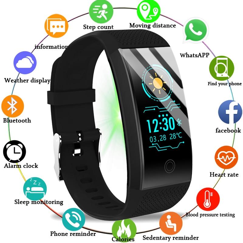 2020 חדש גברים נשים חכם שעון בריאות צג קצב לב/דם/פדומטר Bluetooth עמיד למים ספורט צמיד