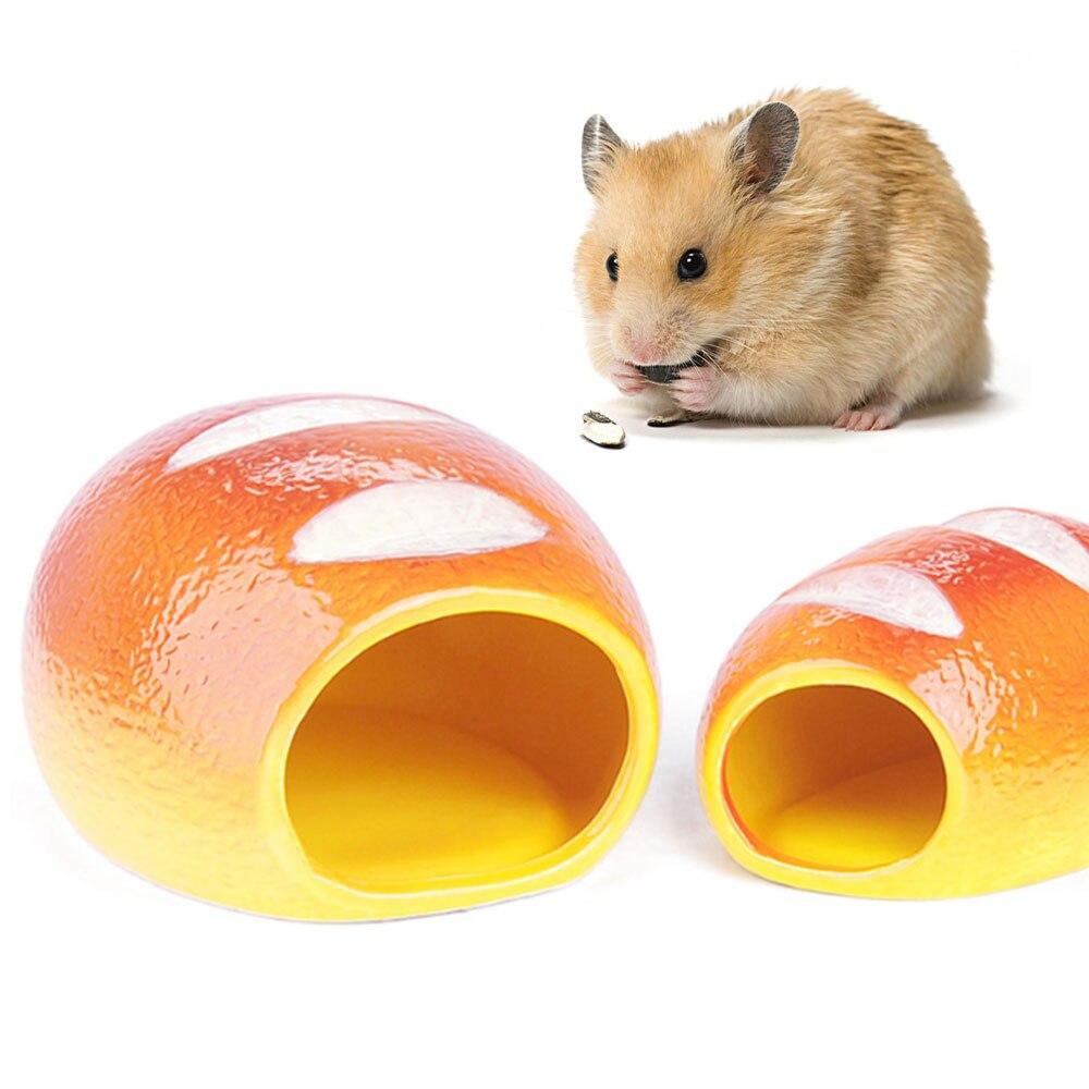 Симпатичная керамическая Клетка для хомяков, маленькая керамическая клетка для домашних животных, спальное гнездо, кровать для домашних животных, крыса, клетка для гамберинок на все сезоны, домашние аксессуары|Клетки|   | АлиЭкспресс
