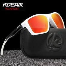 Мужские солнцезащитные очки KDEAM, поляризационные квадратные очки из пластика TR90, уличные дорожные очки с защитой UV400, KD143, 2020