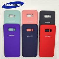 Funda de silicona para Samsung Galaxy S8/S8 Plus, acabado suave, funda protectora trasera