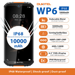 OUKITEL WP6 смартфон с восьмиядерным процессором MT6771T, ОЗУ 6 ГБ, ПЗУ 128 ГБ, 10000 мАч, 48 МП