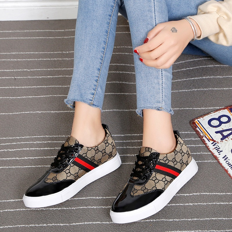 HOT Women Sneakers Fashion Breathble Vulcanized Shoes Pu Leather Platform Lace Up Casual White Tenis Feminino Zapatos De Mujer 3