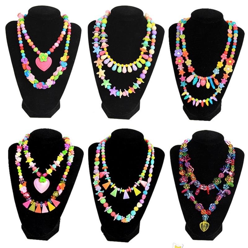 DIY Handmade Beaded Kids Jewelry Making Necklace Bracelets Headdress Beads Kit Box Storage Craft For Jewelry Making Accessories