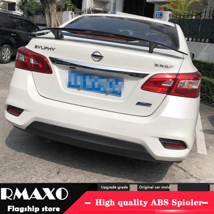 for nissan sentra spoiler 2015 2019 sentra tf high quality spoiler abs material car rear wing primer color rear spoiler spoilers wings aliexpress for nissan sentra spoiler 2015 2019
