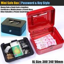 Металлический мини Сейф xl:30x24 см скрытый секретный сейф замок
