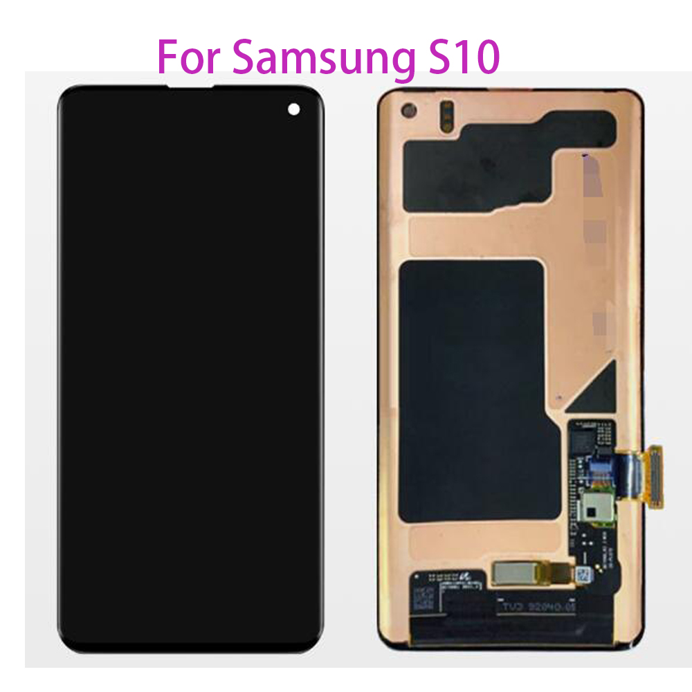 Surper AMOLED <font><b>LCD</b></font> For <font><b>Samsung</b></font> <font><b>S10</b></font> SM-G9730 G973F <font><b>LCD</b></font> Display Touch <font><b>Screen</b></font> Digitizer For <font><b>Samsung</b></font> <font><b>S10</b></font> SM-G9730 G973F image
