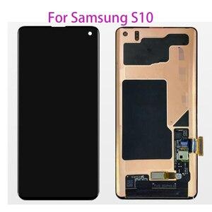 Tote pixel Original LCD Für Samsung S10 SM-G9730 G973F LCD Display Touchscreen Digitizer Für Samsung S10 SM-G9730 G973F