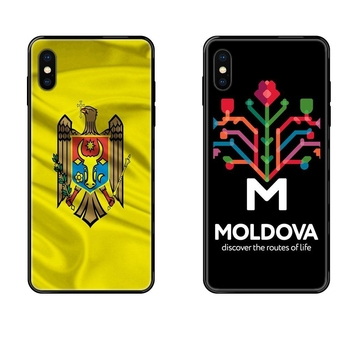 Black Soft Fashion Mobile Phone For Galaxy S5 S6 S7 S8 S9 S10 S10e S20 edge Lite Plus Ultra Moldova Flag Charming image