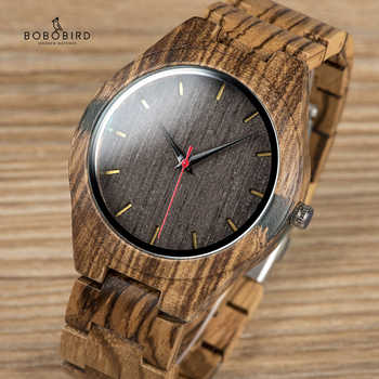 BOBO BIRD Wood Men Watch erkek kol saati Fashion Luxury Design Watches Women Wooden and Agate Inlay Case relogio masculino V-Q05 - DISCOUNT ITEM  40% OFF All Category