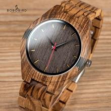 BOBO BIRD reloj de madera para hombre, relojes erkek kol saati, diseño de lujo, con carcasa incrustada de madera y ágata, V Q05