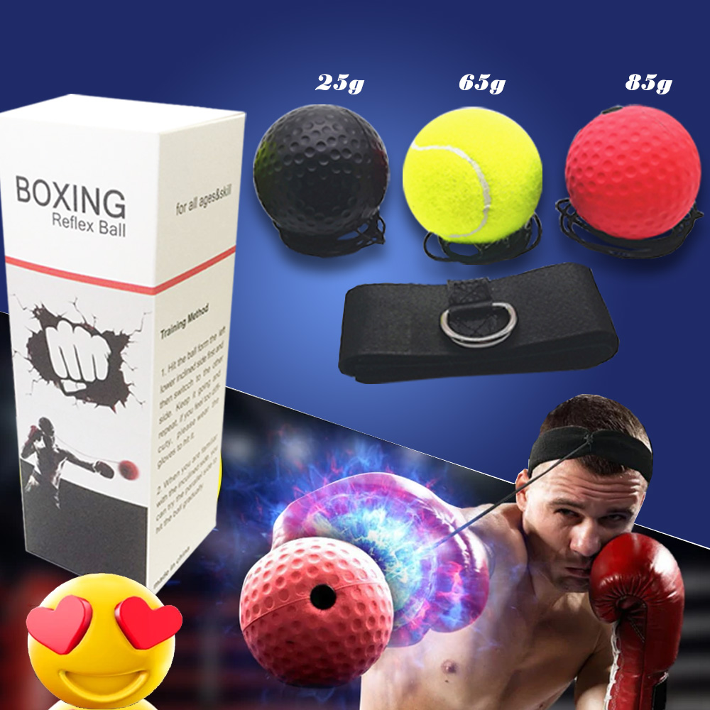 Activpulse Boxing Reflex Ball Head Band Fighting Speed Training Punch Fight Ball Exercise Equipment Sports Muay Tai MMA Ball