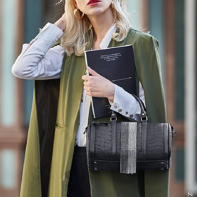 ZOOLER Amazing Handbag Women Fashion Cow Leather bags Female Shoulder bag Patchwork designer Luxury Tote Boston Handbags QS223