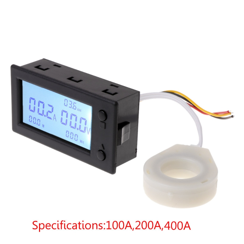 DC 300V 100A 200A 400A digital Voltmeter Ammeter Battery Capacity coulometer Power electricity watt-hour meter With Hall sensor