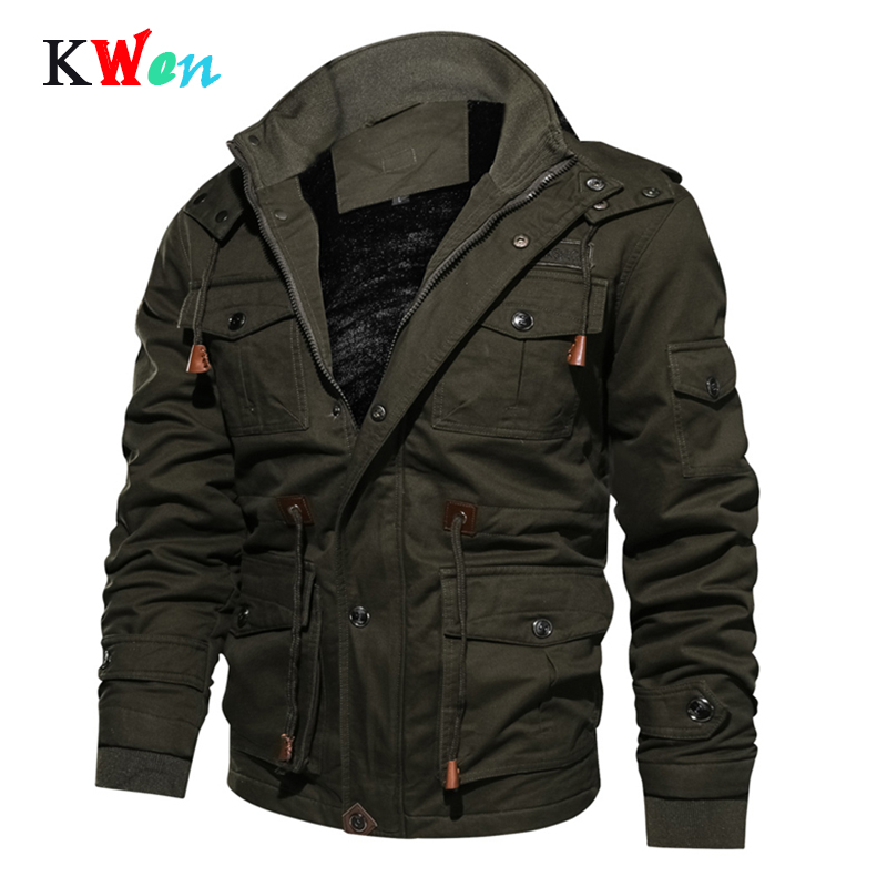 Brand Thick Winter Fleece Jackets Men Military Tactical Army Jacket Mens Plus Size 4XL Keep Warm Hooded Jaqueta Masculina KW7011