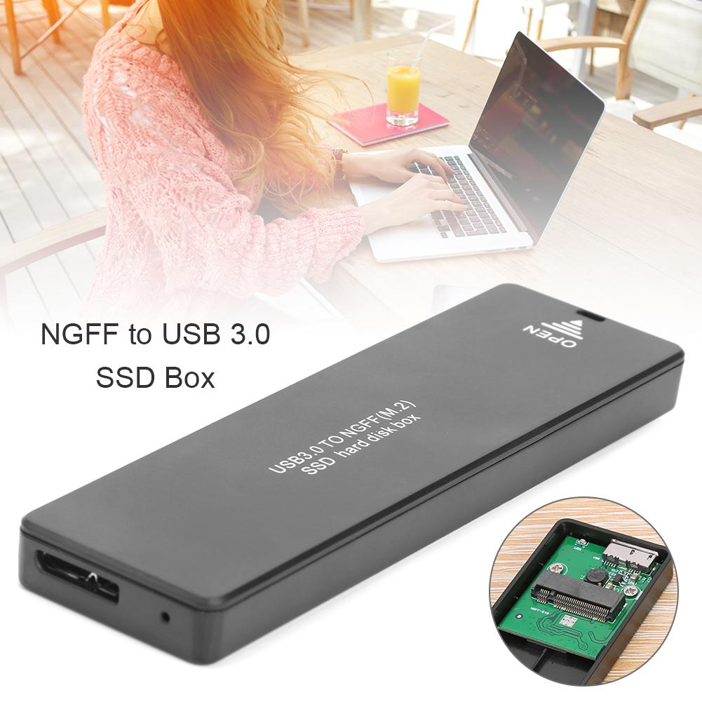 USB 3.0 SSD M2 HDD SSD Case NGFF SATA M.2 To Hard Disk Case M2 2242 2260 2280 External Hard Drive Enclosure For NGFF SATA SSD