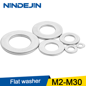 1/100pcs Flat Washer M2 M2.5 M3 M4 M5 M6 M8 M10 M12 M14 M16 M18 M20 M22 M27 Stainless Steel Washers Plain Washer Gaskets DIN125|Washers|   -