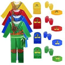 Ninjago Costume Jumpsuit Party-Dress Cosplay Superhero Carnival Children Boys for Kids