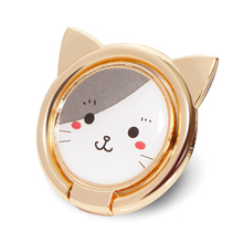 Luxury Metal Mobile Phone Socket Holder Universal 360 Degree Rotation Animal Cat Finger Ring Magnetic Car Bracket Stand