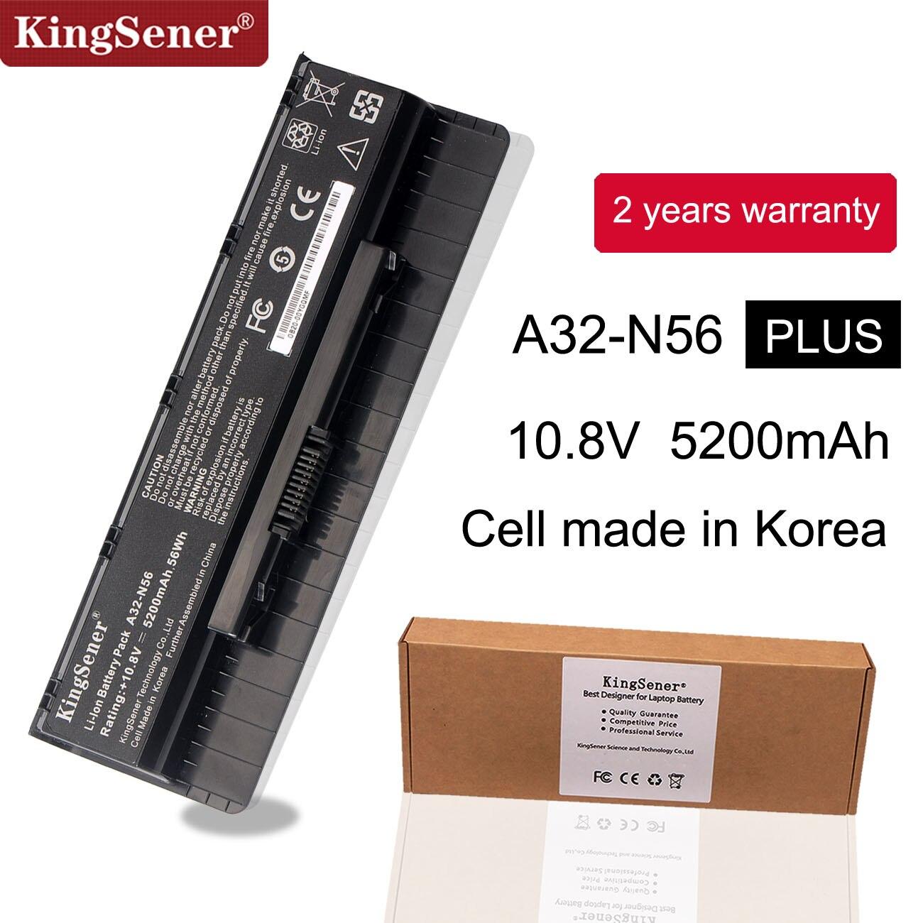 10.8V 5200mAh Corée Portable Nouveau A32-N56 Batterie pour ASUS N46 N46V N46VJ N46VM N46VZ N56 N56V N56VJ N56VM N76 N76VZ A31-N56 A33-N56