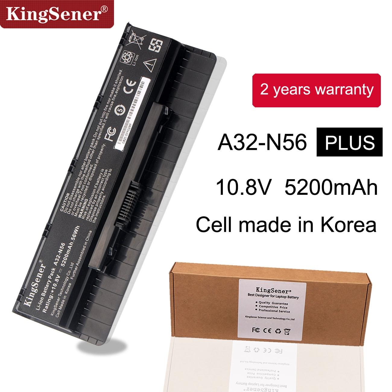 10.8V 5200mAh Korea Cell New A32-N56 Battery For ASUS N46 N46V N46VJ N46VM N46VZ N56 N56V N56VJ N56VM N76 N76VZ A31-N56 A33-N56