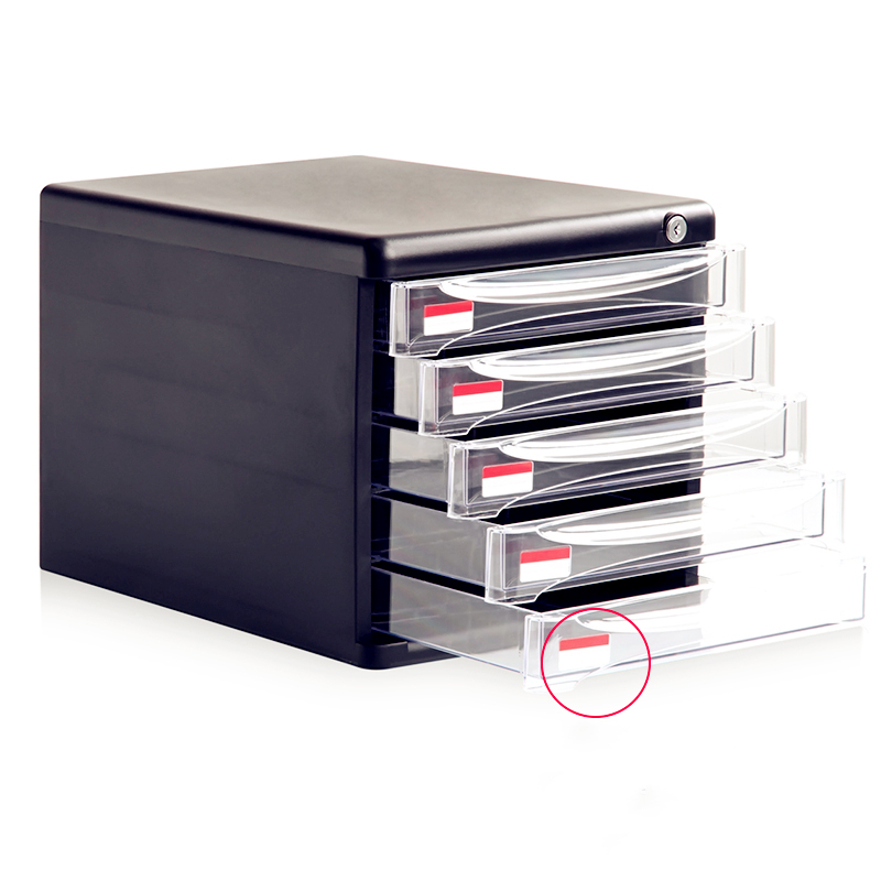 Desktop File Cabinet Drawer Type Lockable Small Cabinet Multilayer A4 File Box Storage Cabinet Layered Data Cabinet